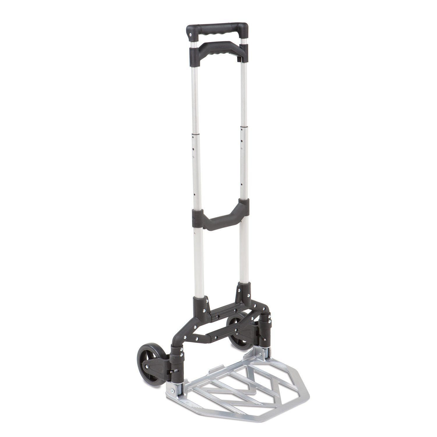 Folding Hand Truck Cart Dolly with Wheels Portable Aluminum Luggage Cart Compact Utility Cart with Bandage NSDUS-KT-2022G SogesHome Tuff Truck D-Handle Utility Hand Truck Folding Hand Truck