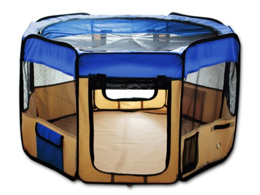 "ESK COLLECTION Blue 45"" Pet Puppy Dog Playpen"